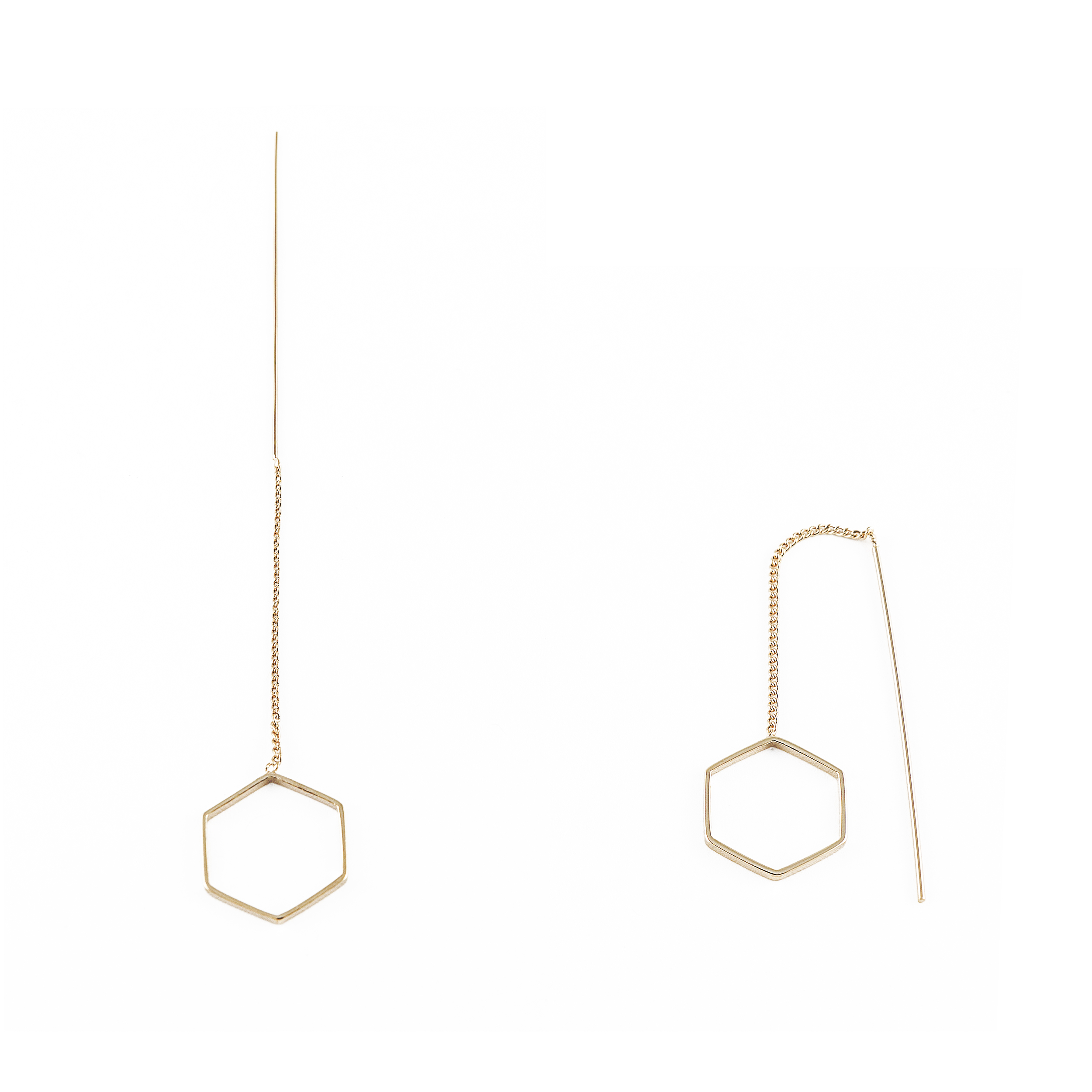 hexagon img earrings mint products co oblong jewelry